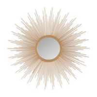 Madison Park Large Fiore Sunburst Mirror in Gold
