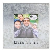 "Lawrence Frames ""This is Us"" 4-Inch x 4-Inch Cooper Galvanized Frame in Silver"