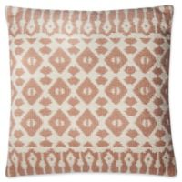 Magnolia Home Emmie Kay Square Pillow in Blush/Ivory