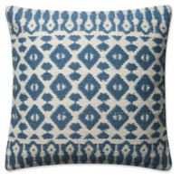 Magnolia Home Emmie Kay Square Pillow in Navy/Ivory