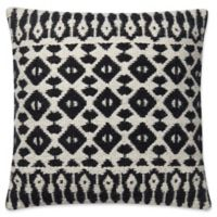 Magnolia Home Emmie Kay Square Pillow in Black/Ivory