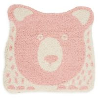 Nourison Hudson Bear 4' Square Power-Loomed Area Rug in Pink
