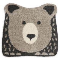 Nourison Hudson Bear 4' Square Power-Loomed Area Rug in Grey