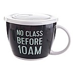 Formations 26 oz. No Class Before 10 AM Soup Mug with Lid in Navy