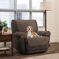 Smart Fit 3-Piece Reversible Suede Recliner Cover in Mocha