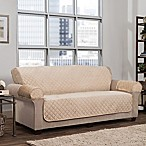 Smart Fit 3-Piece Waterproof Suede Sofa Cover in Sand