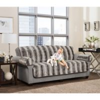 Smart Fit 3-Piece Ombre Faux Fur Sofa Cover in Grey