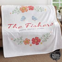 Precious Moments® Floral PZ 50x60 Fleece Blanket