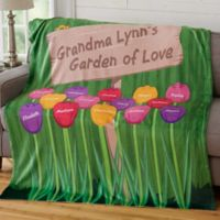 Grandma's Garden Personalized 50x60 Fleece Blanket