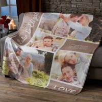 Romantic Love Photo Collage 50X60 Fleece Blanket