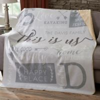 This Is Us 50-Inch x 60-Inch Sherpa Blanket