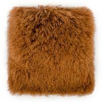 Tov Furniture Tibetan Sheep 20-Inch Square Throw Pillow in Copper