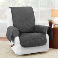 Sure Fit® Waterproof Recliner Furniture Protector in Grey