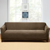 Sure Fit® Hudson Stretch Sofa Slipcover in Taupe