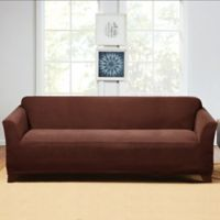 Sure Fit Hudson Stretch Sofa Slipcover In Chocolate