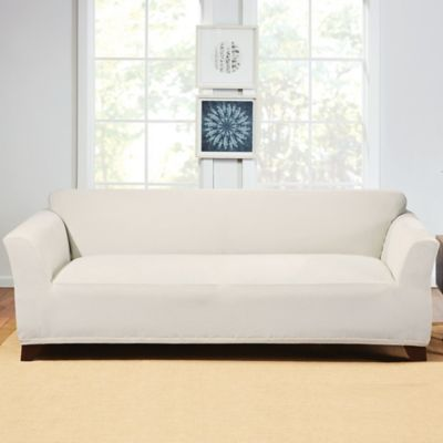 Sure Fit® Hudson Stretch Sofa Slipcover In Cream