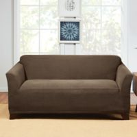 Sure Fit® Hudson Stretch Loveseat Slipcover in Taupe