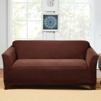 Sure Fit® Hudson Stretch Loveseat Slipcover in Chocolate