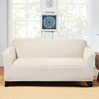 Sure Fit® Hudson Stretch Loveseat Slipcover in Cream