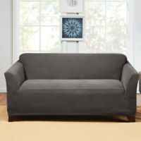 Sure Fit® Hudson Stretch Loveseat Slipcover in Grey