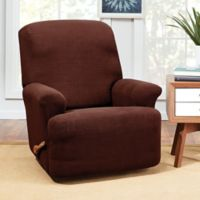 Sure Fit® Hudson Stretch Recliner Slipcover in Chocolate