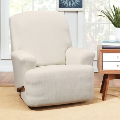 Sure Fit® Hudson Stretch Recliner Slipcover In Cream