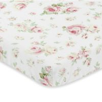 Sweet Jojo Designs Riley's Roses Fitted Mini-Crib Sheet