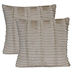 Faux Fur Square Throw Pillows in Ivory (Set of 2)