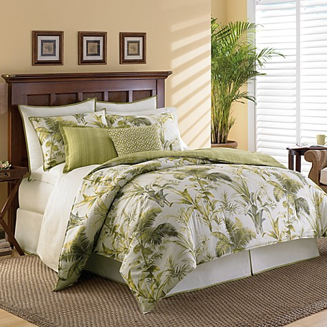Tommy Bahama 174 Home Island Botanical Comforter Set Bed