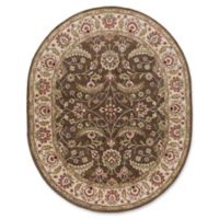 Surya Caesar Classic Hand-Tufted 8' x 10' Oval Area Rug in Brown/Green