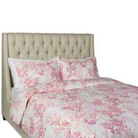 Granpallazzo Paradise Queen Duvet Cover Set in Pink