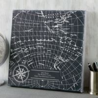 Industrial World Map 24-Inch Square Canvas Print