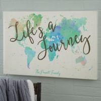 The Journey World Map 24-Inch x 36-Inch Canvas Print