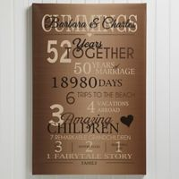 Our Years Together Anniversary 12-Inch x 18-Inch Canvas Print