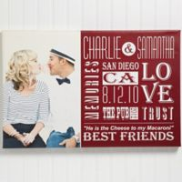 Our Life Together Photo 24-Inch x 35-Inch Canvas Print