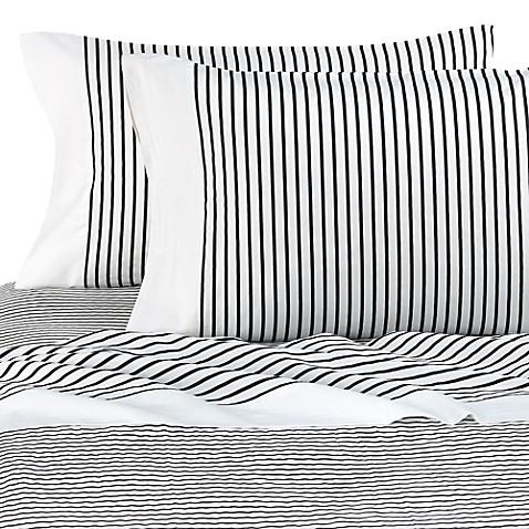 kate spade new york fairmont stripe sheet set 100 cotton 230 thread count - Striped Sheets