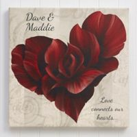 Blooming Heart 24-Inch Square Canvas Print