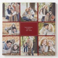 Family Photomontage 8-Inch Square Canvas Print