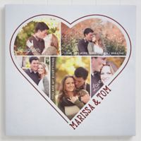 The Heart Of A Couple 24-Inch Square 5 Photo Canvas Print
