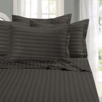 Elegant Comfort Wrinkle Resistant Stripe Full Sheet Sheet in Grey