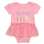 Baby Starters® Size 3M  Just Add Glitter & Shine  Tutu Bodysuit in Pink