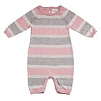 Cuddl Duds® Size 9M Striped Coverall in Pink/Grey