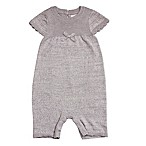 Cuddl Duds® Size 9M Ribbed Shortall in Grey