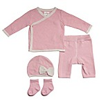 Cuddl Duds® Size 9M 5-Piece Take Me Home Kimono Cardigan, Pant, Hat, and Sock Set in Pink