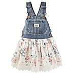 OshKosh Baby B'gosh® Size 6M Denim and Flower Eyelet Skortall