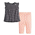 Burt's Bees Baby® Size 12M 2-Piece Organic Cotton Ikat Flutter Sleeve Top and Capri Legging Set