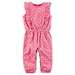 carter's® Size 3M Flutter Polka Dot Snap-Up Romper in Pink