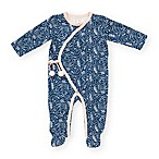 Jessica Simpson Size 6-9M Feather Floral Footie in Blue