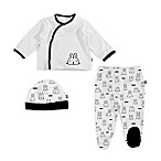 Magnetic Me by Magnificent Baby® Size 3M 3-Piece Mole Kimono, Pant and Hat Set in White