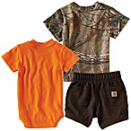 Carhartt® Realtree Xtra® Size 3M 3-Piece Wildlife T-Shirt, Bodysuit, and Short Set